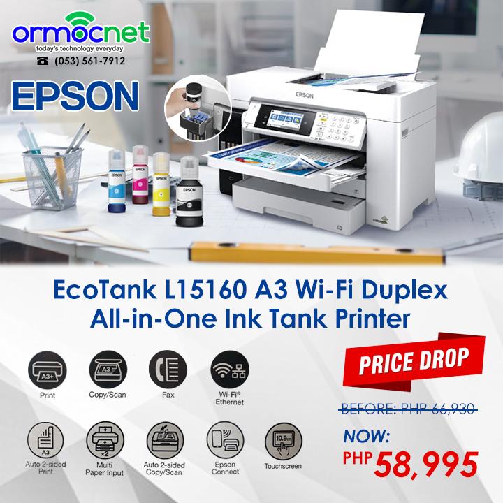 Epson EcoTank L15160 A3 Wi-Fi Duplex All-in-One-Ink Tank Printer