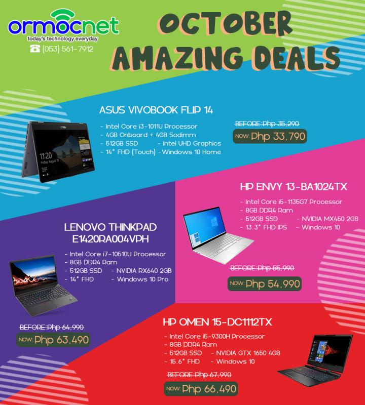 October Amazing Deals